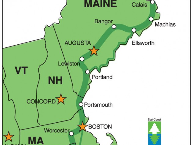 Three New England trips on the East Coast Greenway