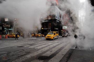 A smoke stack in Times Square was my first thought for subject for this challenge. This was the best capture I got.