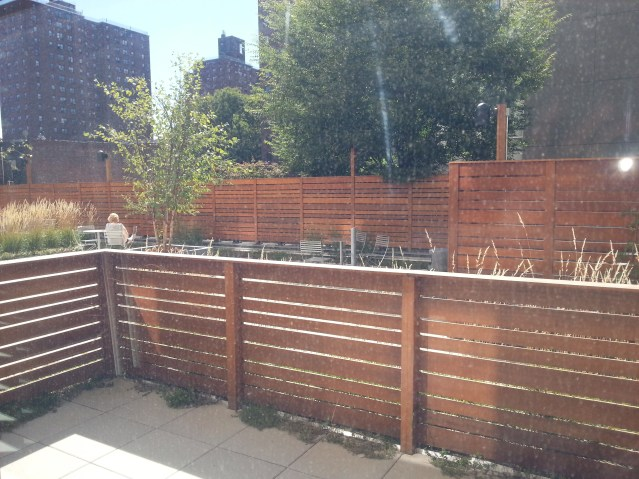 My patio within the larger Community terrace - private outdoor space in the City. Very GOOD!