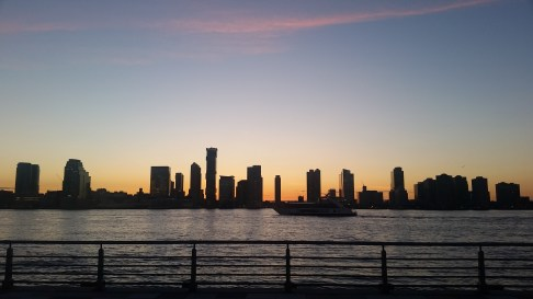 Looking across the Hudson: Jersey City, NJ from Battery Park City, Manhattan