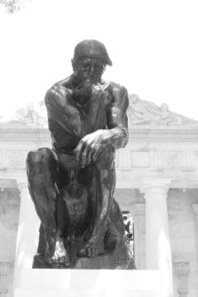 The Thinker by Auguste Rodin in front of the Rodin Museum, which houses the largest collection of his work outside of Paris. Philadelphia, PA, July 2014