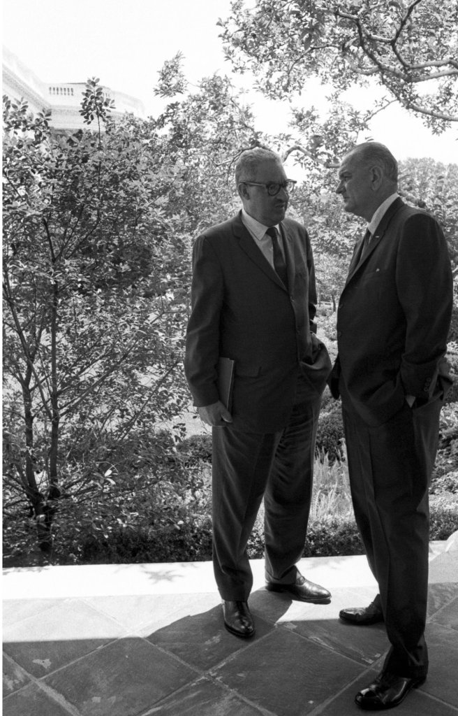 Thurgood Marshall and President Johnson