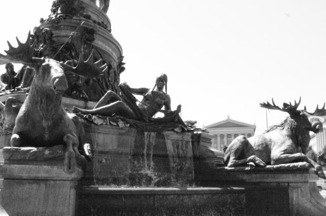 Native beauty in front of the Art Museum, Philadelphia, PA