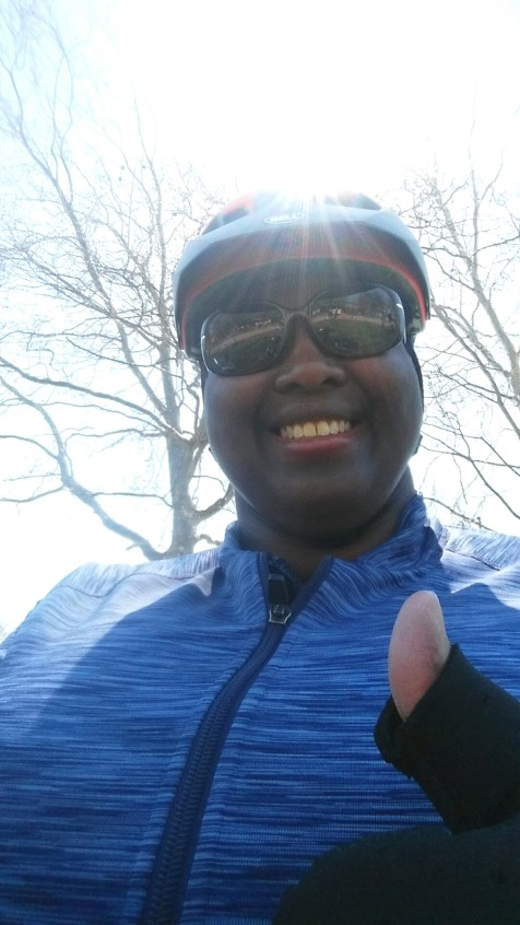 @Mile 12: At the second rest stop - finally getting some confidence!