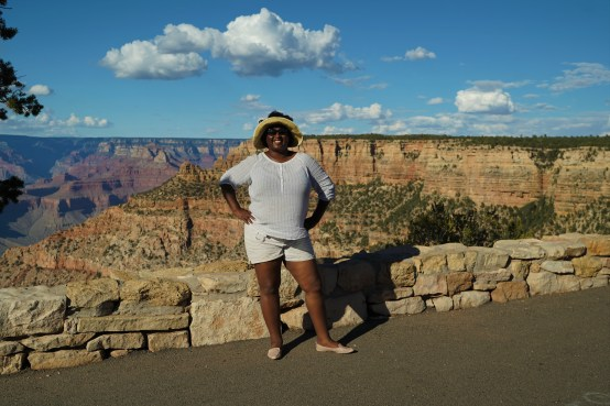 Driving along the South Rim of the Grand Canyon