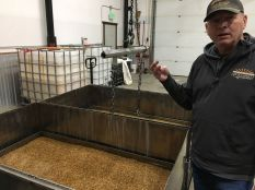 Stu davies explains the process of steeping barley to prepare it for malting