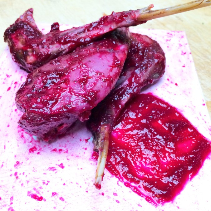 Wild Rabbit and Prickly Pear Sauce