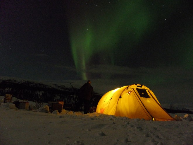 The northern lights provide evening entertainment.