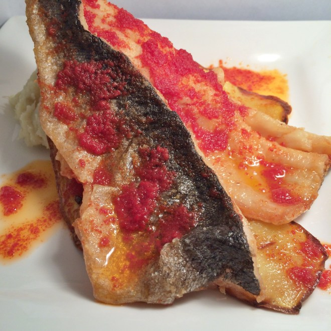 Pan Fried Trout with Smoked Butter Tomato Sauce