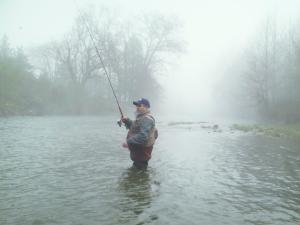 Fishing with my Dad on a foggy morning
