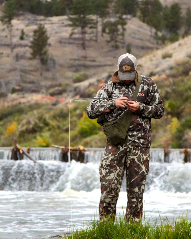Fly Fishing in Camo
