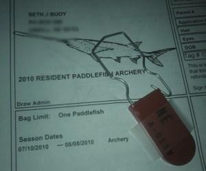 Paddlefish Permit