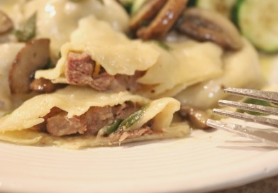 Homemade Antelope Ravioli with Sage Brown Butter Sauce