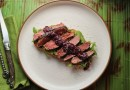 Venison Toast with Sage Blueberry Sauce