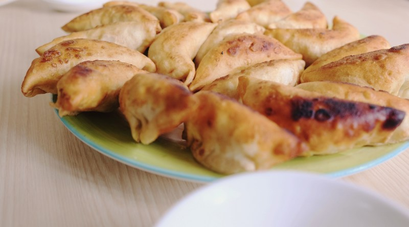 Squirrel and Scallion Potstickers with Ginger Dipping Sauce