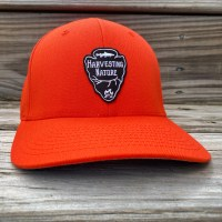 Wool Blend Flexfit Orange Logo Cap