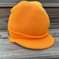 Orange Brimmed Beanie