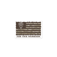 Camo American Flag Sticker