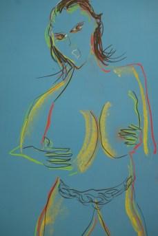 """""""Kiara Mia,"""" Pastel on Paper, 18 x 24,"""" 2017."""