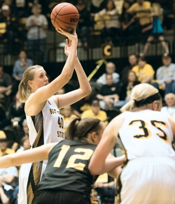 Some of Kate Lehman?s titles include: MIAA player of the year, MIAA Defensive Player of the year (three straight years), WBCA National Player of the Year Finalist, WBCA All-American First Team, BennenttRank.com NCAA Division II Player of the year. Her senior year rebounds were almost the same as her freshman and sophomore year combined. Photo by Bob Duffy