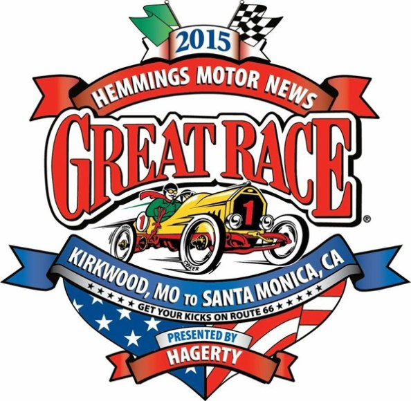 The logo of the 2015 Great Race marked vehicles as official participants the the event. Haven's Ron Boese was the chief mechanic for the driver and navigator of a 1936 Packard that finished 10th out of 125 classic vehicles. Photo courtesy Ron Boese.