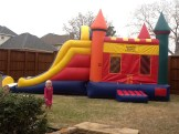 The bounce house!