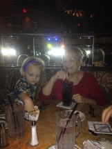 Farewell dinner at Cheesecake Factory.