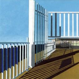"Elizabeth Ferrill, ""Border #2"", 2014, gouache on paper, 8 x 8 inches"