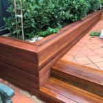 Harwood Menuisier terrasse muret bois