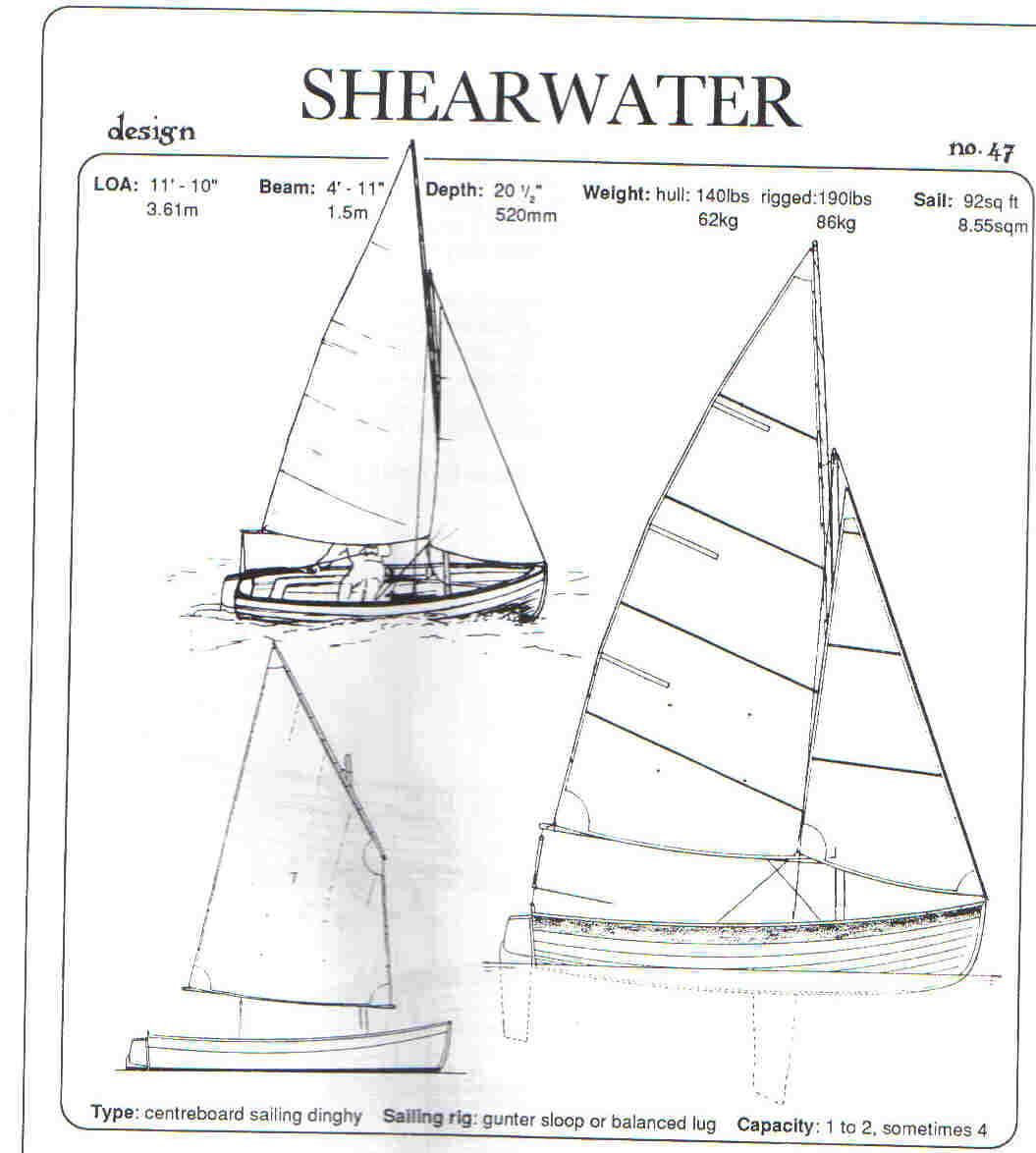 hight resolution of 11ft 10 shearwater sailboat or rowboat