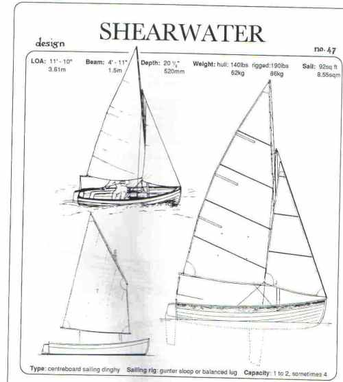 small resolution of 11ft 10 shearwater sailboat or rowboat