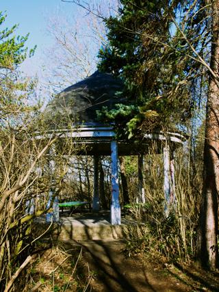 Bild: Der Pavillon auf der Luisensicht oder Goethesicht bei Aschersleben.