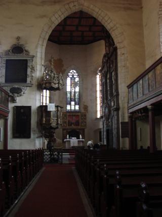 Bild: In der Kirche St. Georg zu Mansfeld.