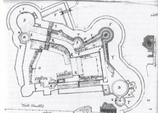 Bild: Grundriss der Festung Mansfeld vor der Schleifung.