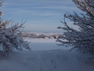 Bild: Blick von der Rabenskuppe auf Mansfeld.