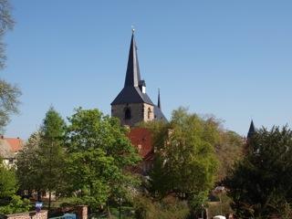 Bild: Blick auf die Kirche St. Nikolai in Eisleben.
