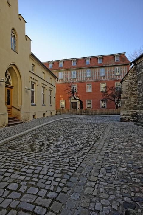 Bild: Das Stephaneum in Aschersleben. An diese höhere Schule ist der Dichter Gottfried August Bürger gegangen. Aufnahme aus dem Jahre 2012.