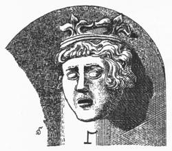 Bild: Der Knoblauchkönig - Graf Hermann von Salm-Luxemburg - in einer historischen Abbildung. Dieses Bild ist gemeinfrei, weil seine urheberrechtliche Schutzfrist abgelaufen ist.