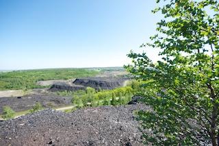 Bild: Blick über die Haldenfelder der ehemaligen Krughütte bei Wimmelburg.