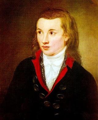 Bild: Friedrich von Hardenberg (Novalis). Portrait von Franz Gareis um 1799. Dieses Bild ist gemeinfrei, weil seine urheberrechtliche Schutzfrist abgelaufen ist.