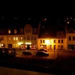 Hettstedt - Blick vom Jüdenkegel auf den Freimarktes bei Nacht.