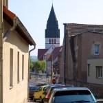 Bild: Eisleben - Blick auf die Kirche St. Gertrudis.