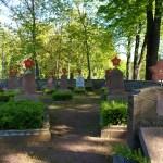 Bild: Eisleben - Der sowjetische Soldatenfriedhof an der Friedensstraße.