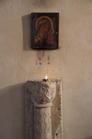 Bild: Ikone in Stiftskirche auf dem Petersberg bei Halle an der Saale.