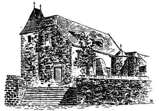 Bild: Die Kirche St. Margarethen zu Aschersleben in einer historischen Abbildung. Dieses Bild ist gemeinfrei, weil seine urheberrechtliche Schutzfrist abgelaufen ist.