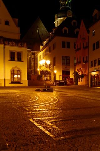 Bild: Markt und Kirche St. Andreas in Eisleben. Aufnahme aus dem Jahr 2010 von Birk Karsten Ecke.