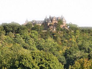 Bild: Das Schloss Rammelburg im Wippertal. Render © 2012 by Birk Karsten Ecke.