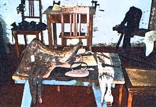 Bild: Handwerk war in historischer Zeit unentbehrlich - hier der Sattler. Render © 2012 by Birk Karsten Ecke.