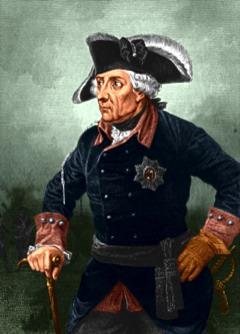 Bild: König Friedrich II. von Preußen. Dieses Bild ist gemeinfrei, weil seine urheberrechtliche Schutzfrist abgelaufen ist.