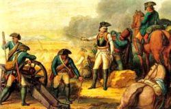 Bild: Der preußische General Friedrich Wilhelm von Seydlitz in der Schlacht bei Rossbach. Ausschnitt aus einem Gemälde eines unbekannten Künstlers. Dieses Bild ist gemeinfrei, weil seine urheberrechtliche Schutzfrist abgelaufen ist.